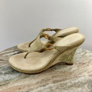 Cole Haan Suede Wedges size 7 suede leather